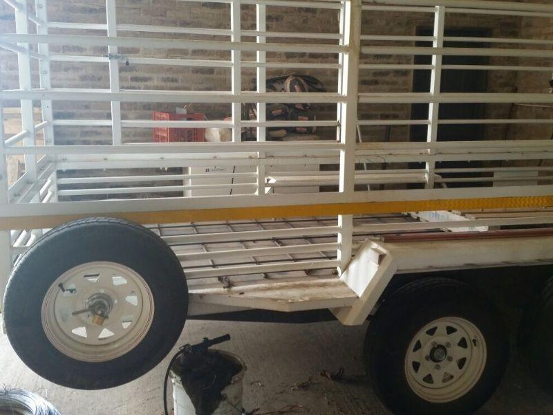 Four meters single axle cargo or cattle trailers for sale