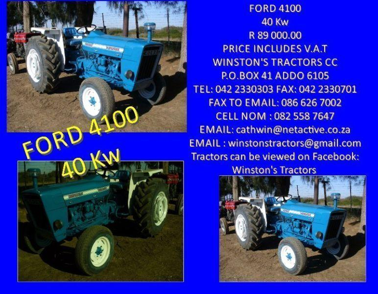 Ford 4100 2x4 versatile and light on fuel. ( vat to be added.) Rebuilt engine. Guarantee