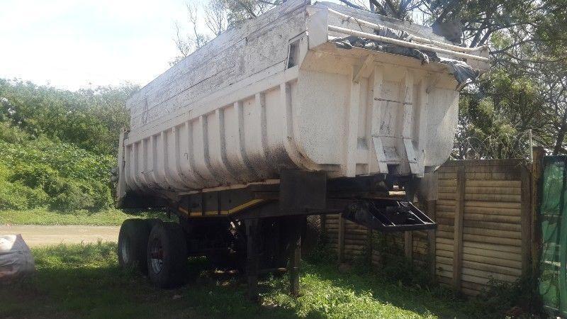 16 cube tipper trailer