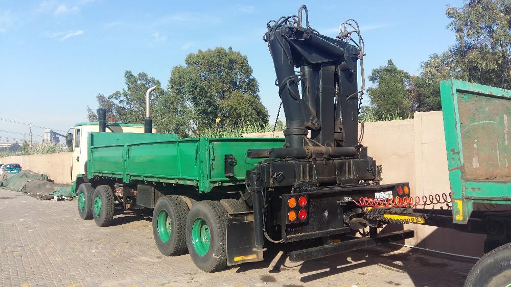 ERF crane truck with 8500kg working crane and a drawbar trailer!