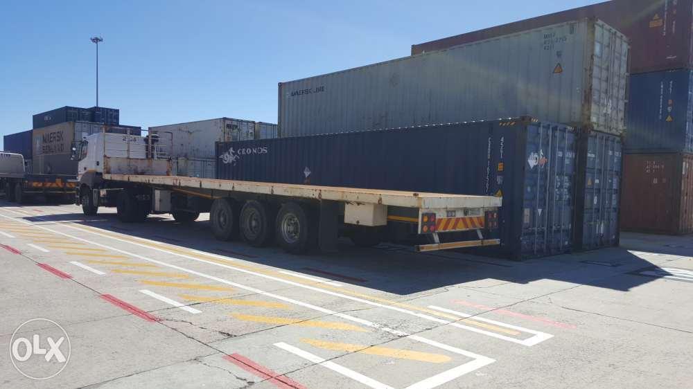 13.7meter Afrit tri- axel semi trailer