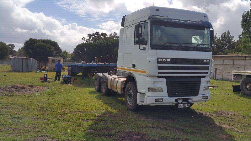 Daf xf95 and tri axel trailer for sale