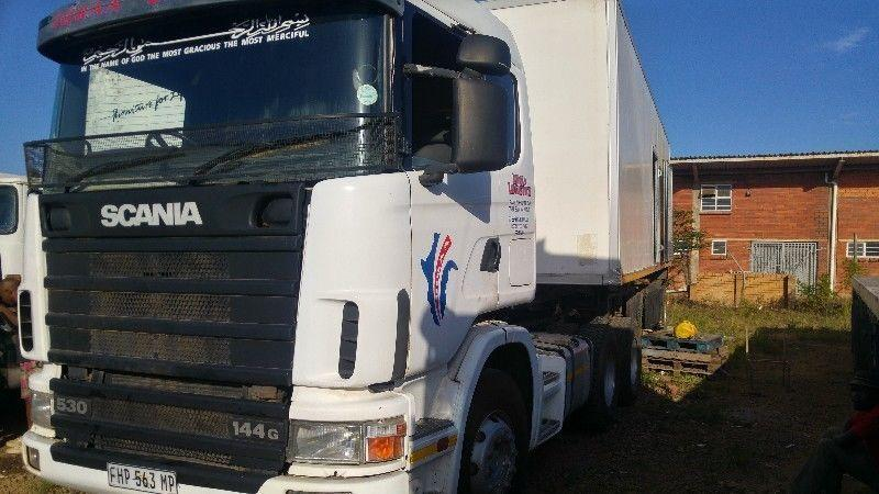 Scania truck and trailer combination