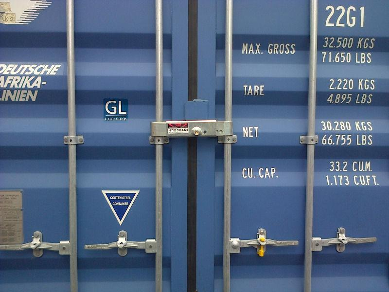 CONTAINER LOCKS AND CARGO SHORING BARS