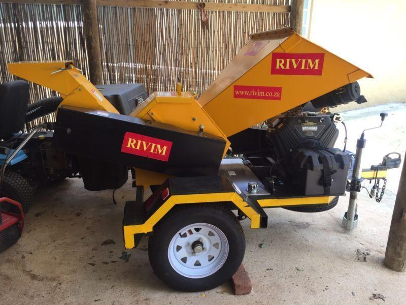Rivim 125 Industrial Trailer Mount Wood Chipper