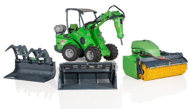 Avant 528: Articulated mini digger/loader/trencher/sweeper/mower/tractor
