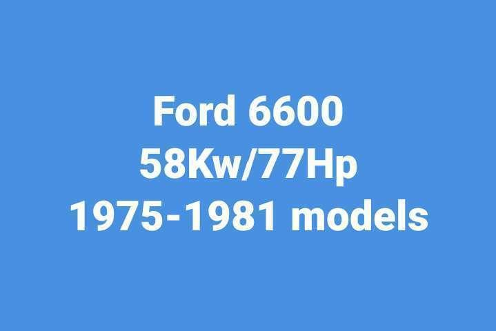 Ford 6600 used Tractor