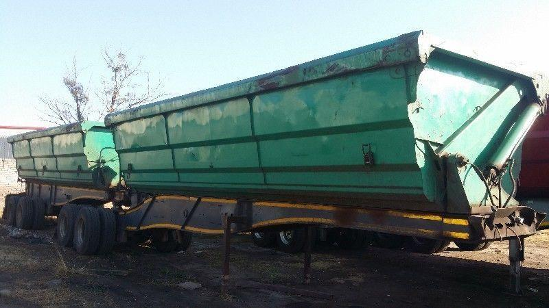 Contract available for side tipper truck and trailer