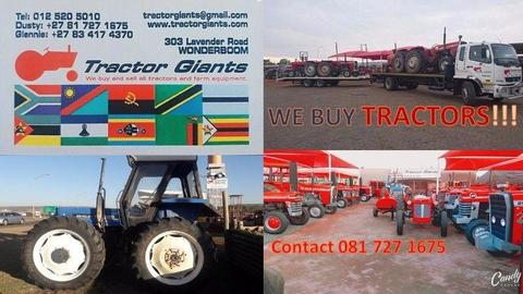 We are looking for Tractors