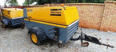 Atlas Copco 290CFM Mobile Air Compressor -1950hrs