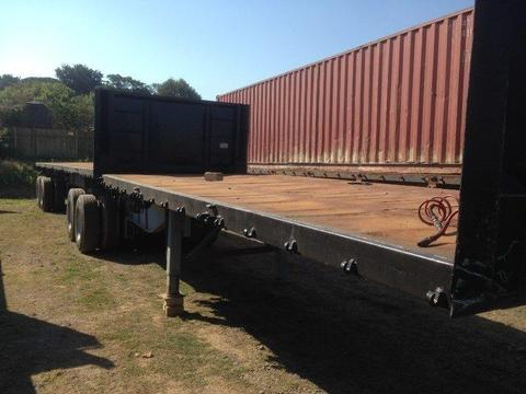 2003 SATB Flatdeck Superlink trailer