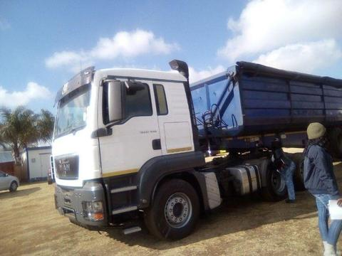 2012 MAN TGS WITH TOP TRAILER MEGA DEAL.....DIAL 0643937859