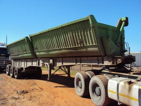 2003 Burg (Top Trailers) Twin Bin Side Tipper Trailer: