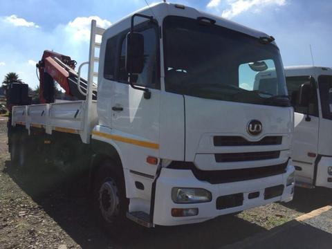 UD390 DROPSIDE WITH FASSI CRANE