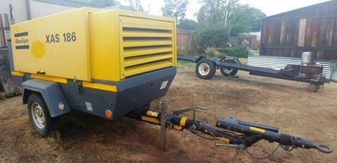 2013 Atlas Copco 400Cfm Diesel Compressor