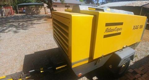 Atlas Copco 400Cfm Mobile Diesel Compressor XAS186