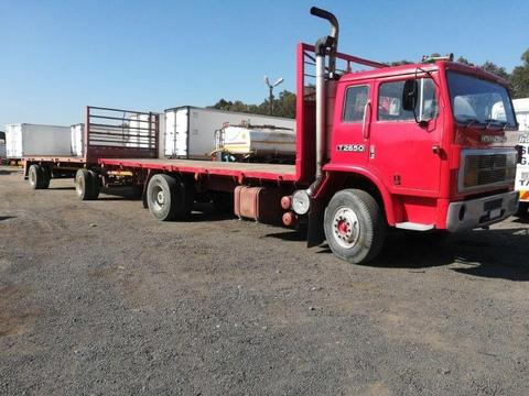 1978 INTERNATIONAL T-LINER 26-50 WITH A DRAWBAR TRAILER